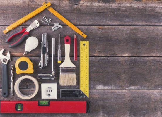 house built out of tools